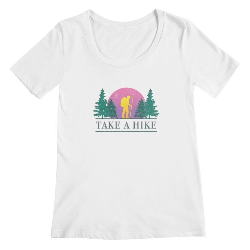 Take a Hike Women's Scoopneck by csw