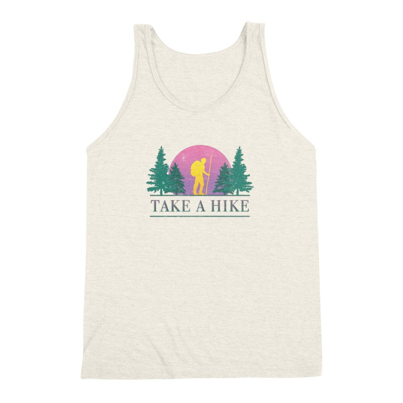 Take a Hike Men's Triblend Tank by csw