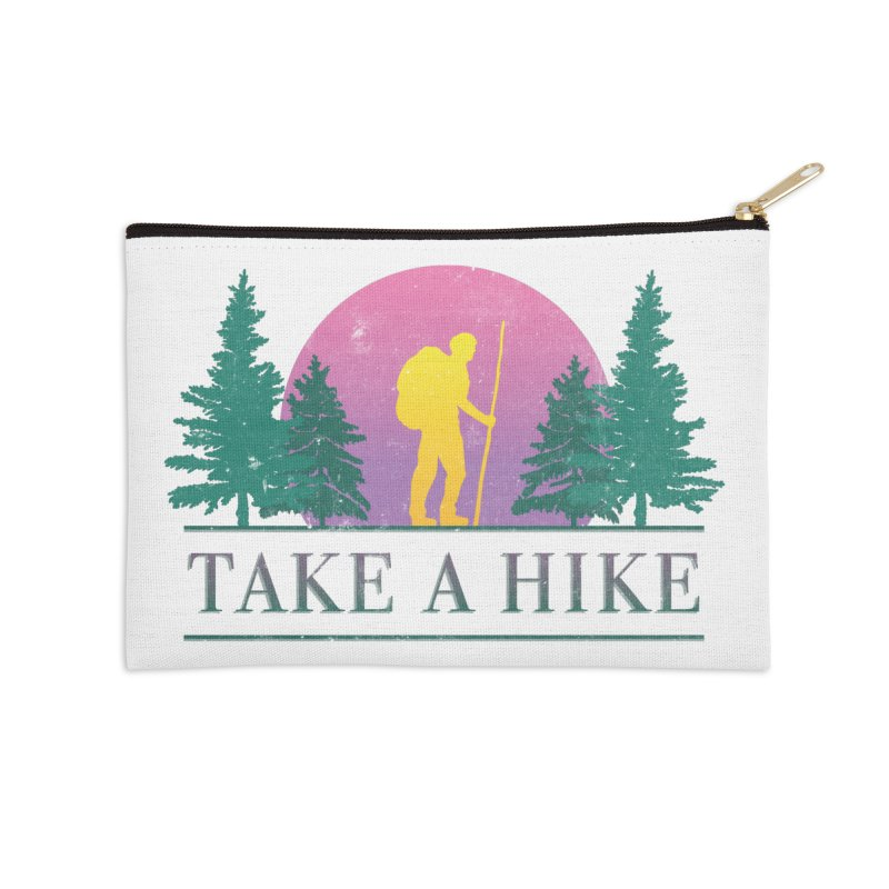 Take a Hike Accessories Zip Pouch by csw