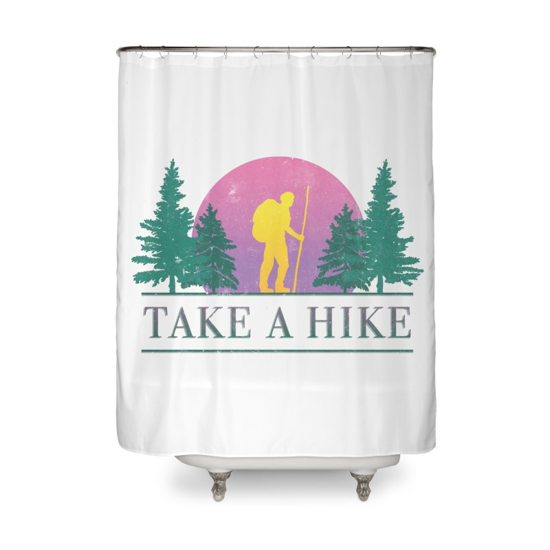 Take a Hike Home Shower Curtain by csw