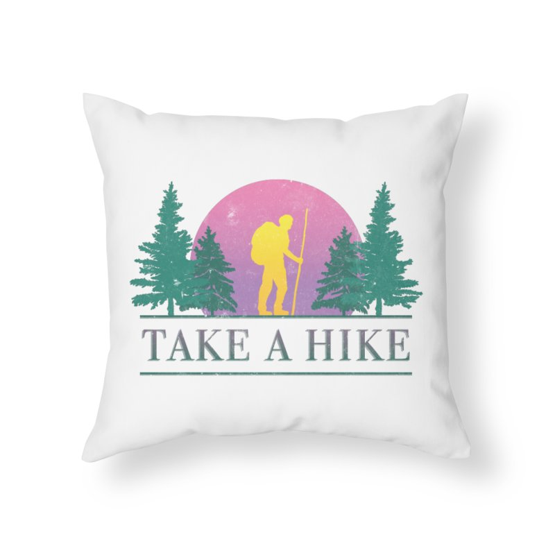 Take a Hike Home Throw Pillow by csw