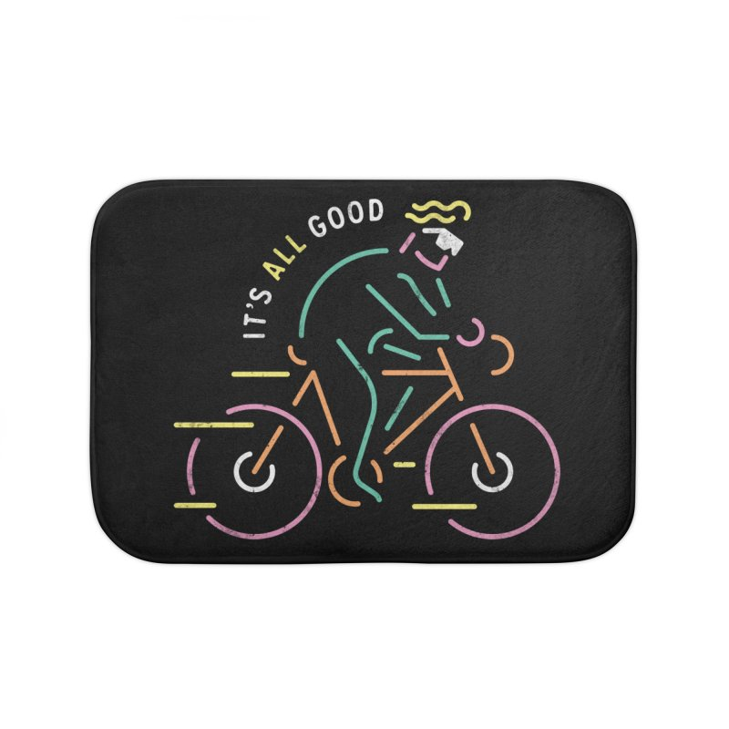 It's All Good Home Bath Mat by csw