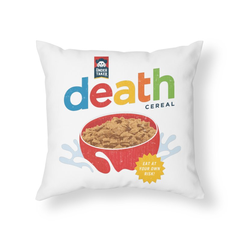 Death in Throw Pillow by Cody Weiler