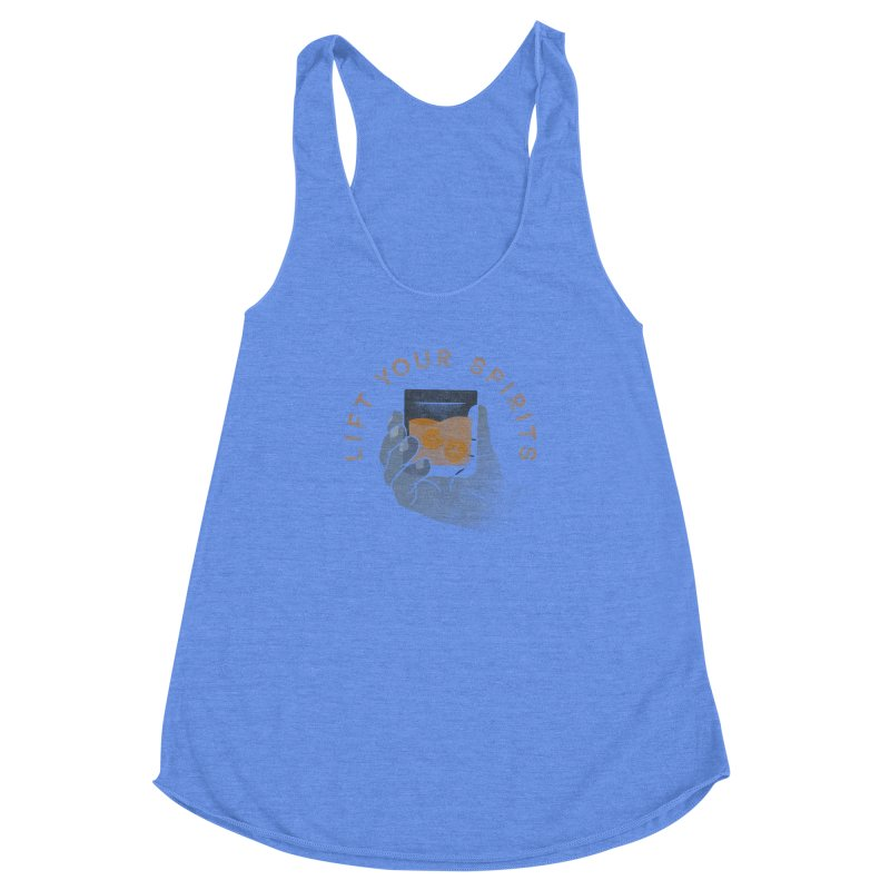 Lift Your Spirits Women's Racerback Triblend Tank by csw