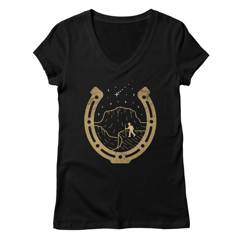 Lucky Stars Women's V-Neck by csw