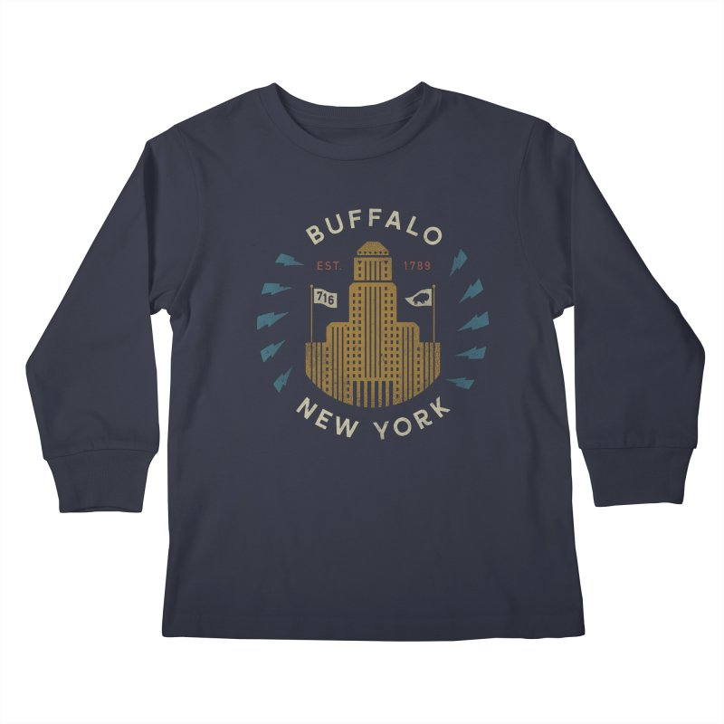 Hometown Pride Kids Longsleeve T-Shirt by csw