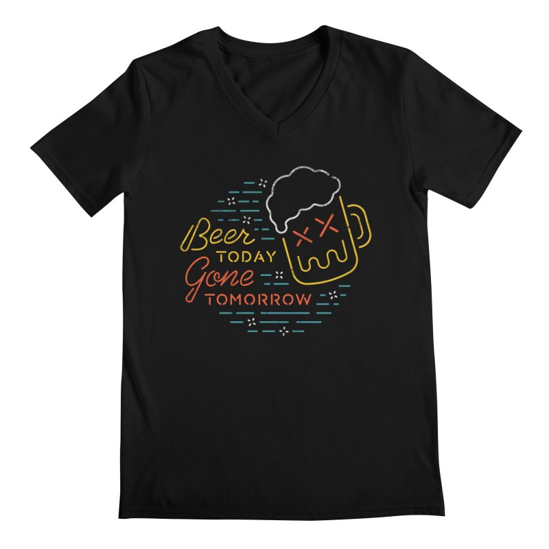 Beer and Gone Men's V-Neck by Cody Weiler