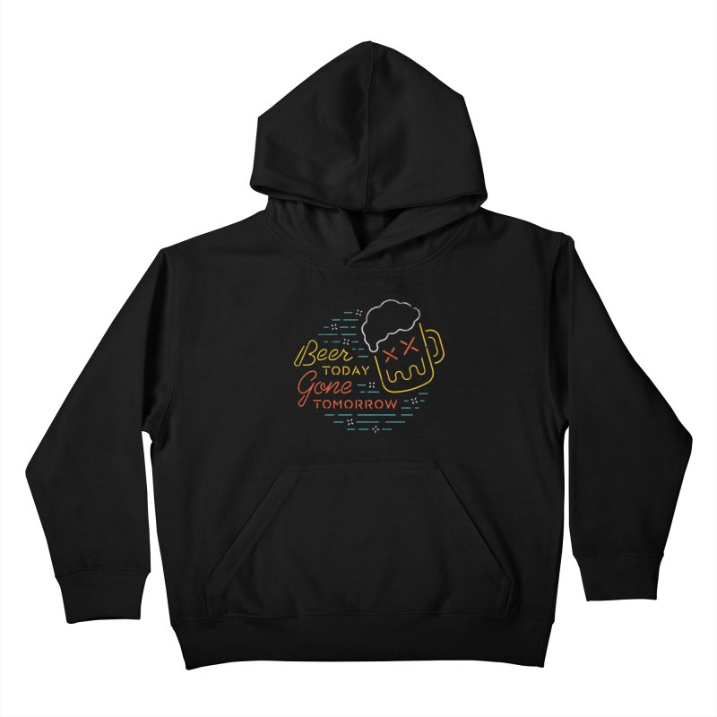 Beer and Gone Kids Pullover Hoody by csw