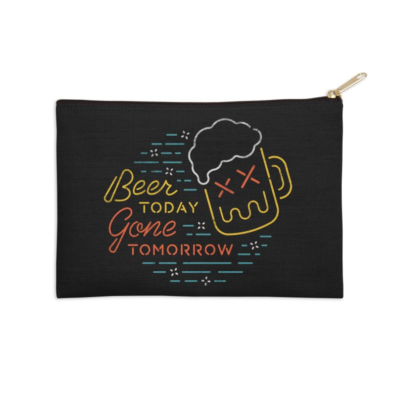 Beer and Gone Accessories Zip Pouch by csw