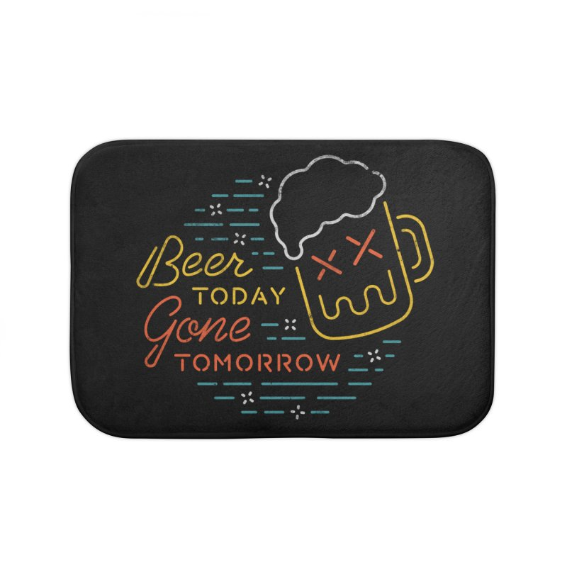 Beer and Gone Home Bath Mat by csw
