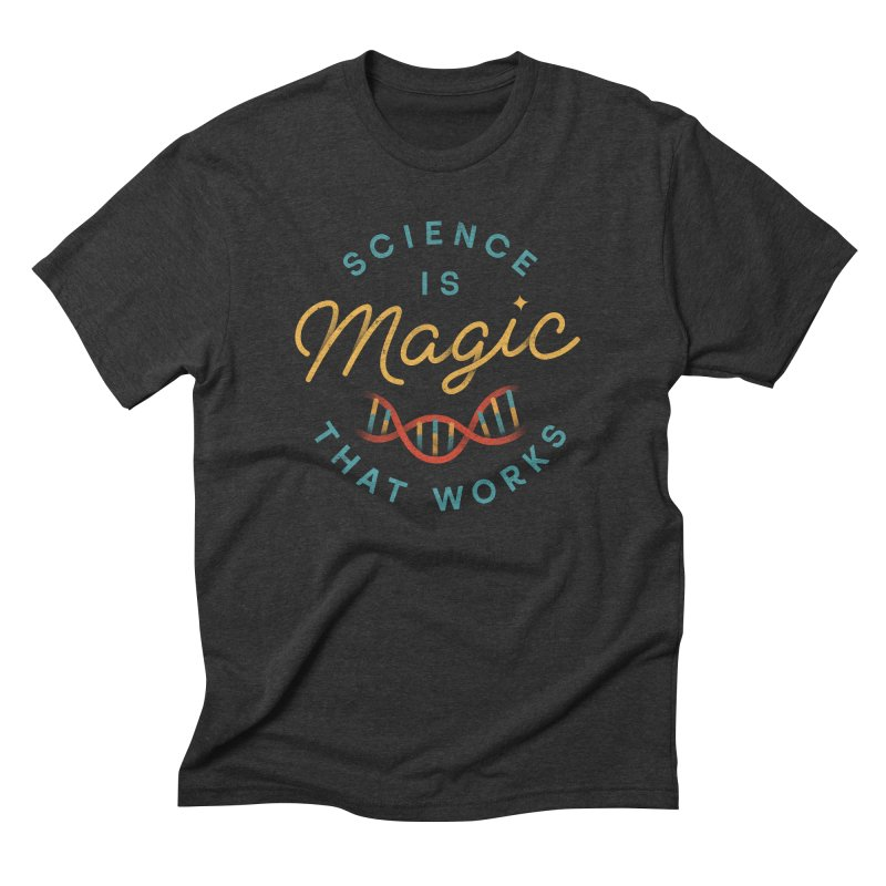 Science is Magic in Men's Triblend T-shirt Heather Onyx by csw