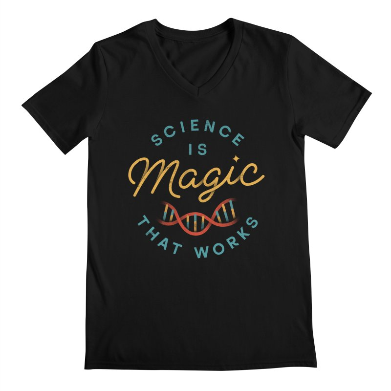 Science is Magic Men's V-Neck by csw