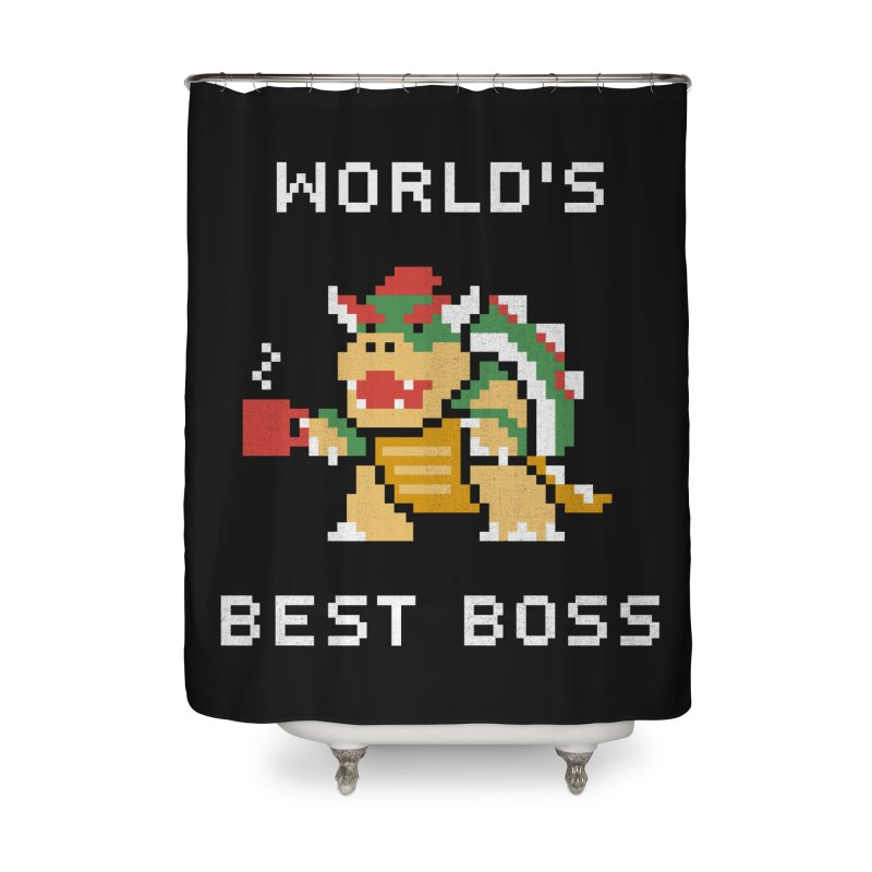 World's Best Boss Home Shower Curtain by csw