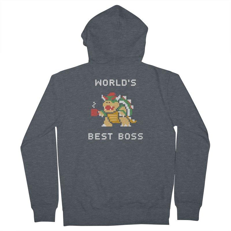 World's Best Boss Men's Zip-Up Hoody by csw