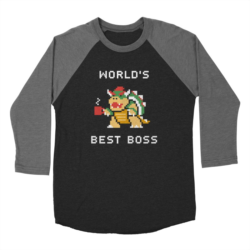 World's Best Boss in Men's Baseball Triblend T-Shirt Grey Triblend Sleeves by csw