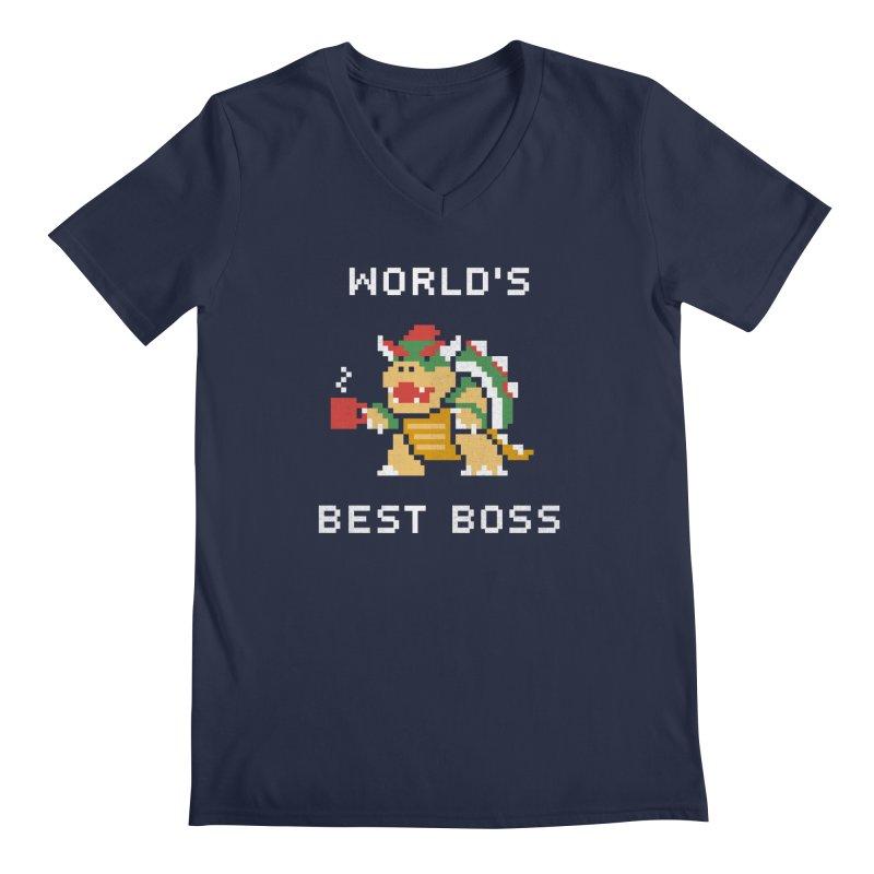 World's Best Boss Men's V-Neck by csw