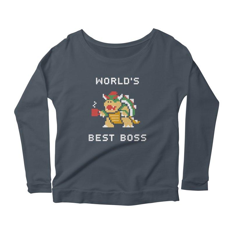 World's Best Boss Women's Longsleeve Scoopneck  by csw