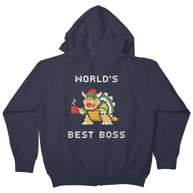 World's Best Boss Kids Zip-Up Hoody by csw