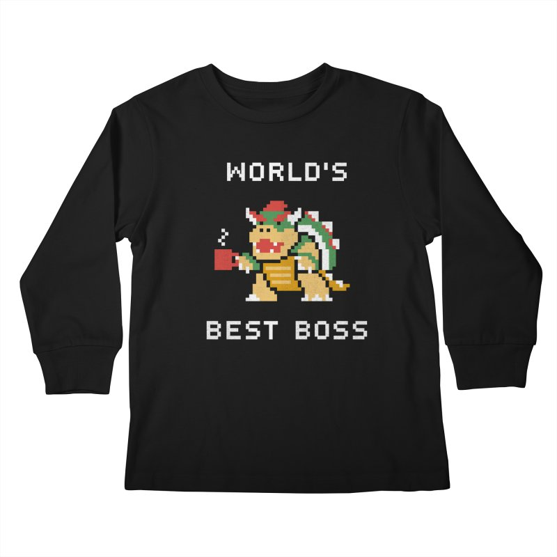 World's Best Boss Kids Longsleeve T-Shirt by csw