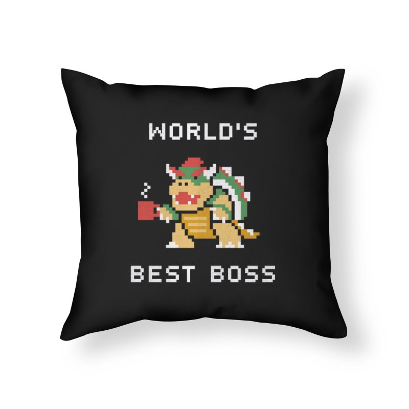 World's Best Boss Home Throw Pillow by csw