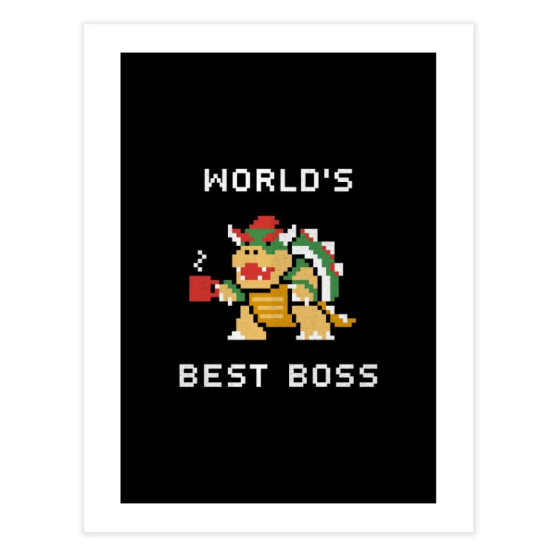 World's Best Boss Home Fine Art Print by csw