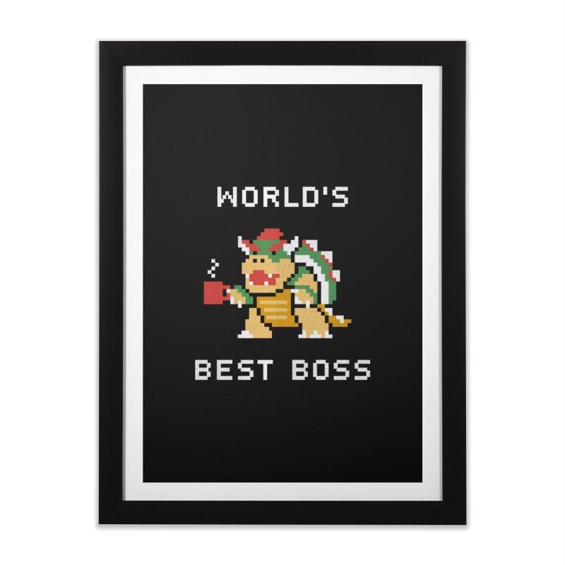 World's Best Boss Home Framed Fine Art Print by csw