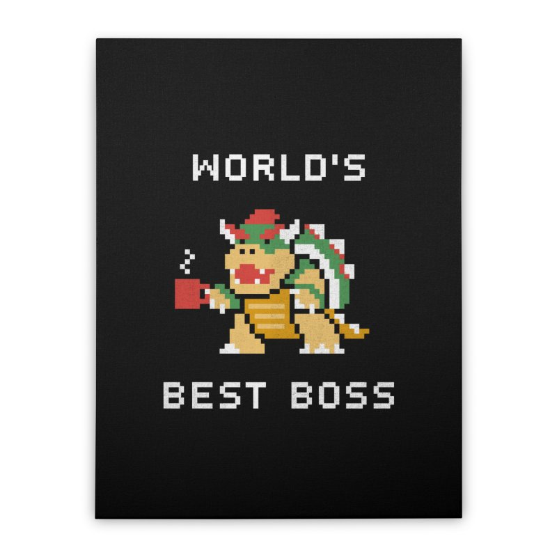 World's Best Boss Home Stretched Canvas by csw