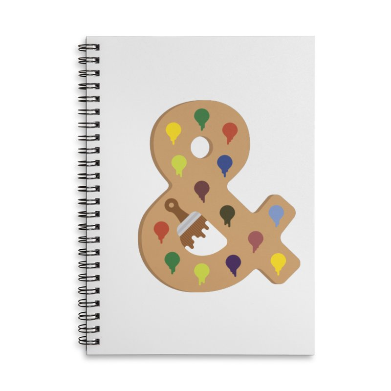 Paint & Palette in Lined Spiral Notebook by csw