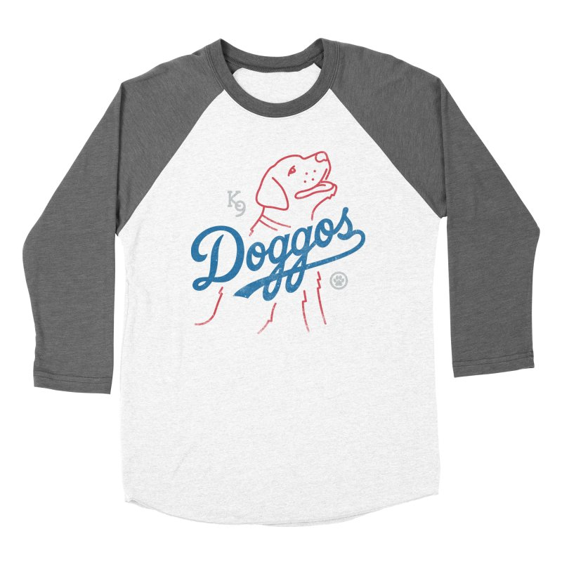 Doggos in Men's Baseball Triblend T-Shirt Tri-Grey Sleeves by csw