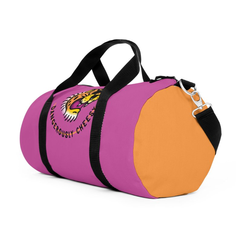 Dangerously Cheesy Accessories Duffel Bag Bag by Cody Weiler
