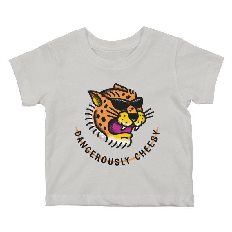 Dangerously Cheesy Kids Baby T-Shirt by csw