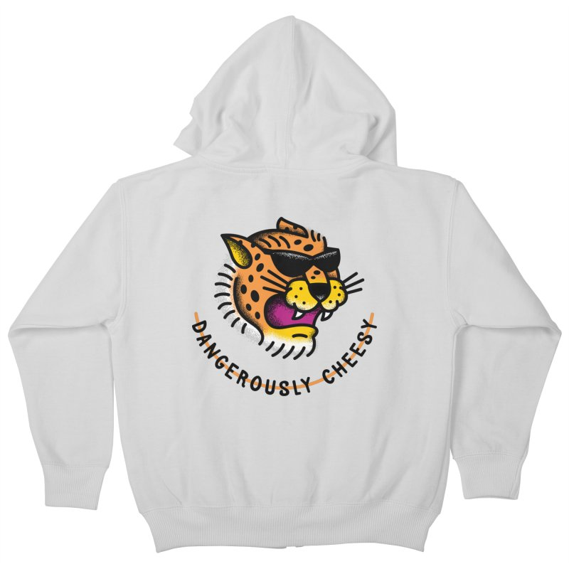 Dangerously Cheesy Kids Zip-Up Hoody by csw