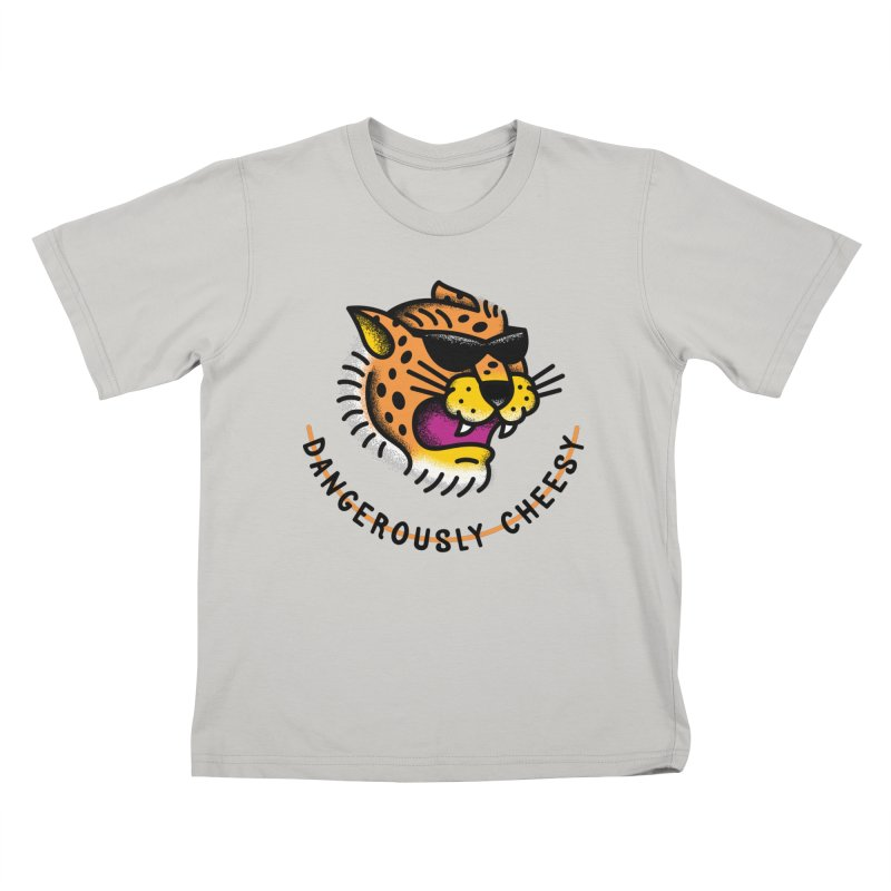 Dangerously Cheesy Kids T-shirt by csw