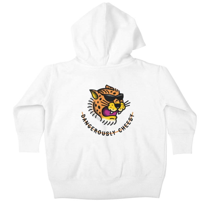 Dangerously Cheesy Kids Baby Zip-Up Hoody by csw