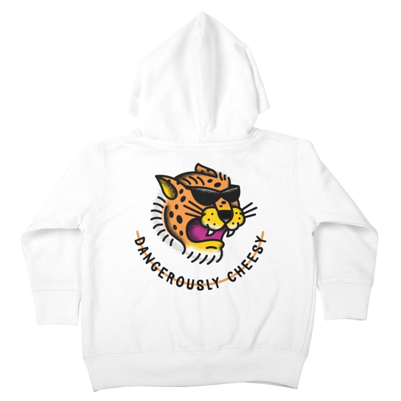 Dangerously Cheesy Kids Toddler Zip-Up Hoody by csw