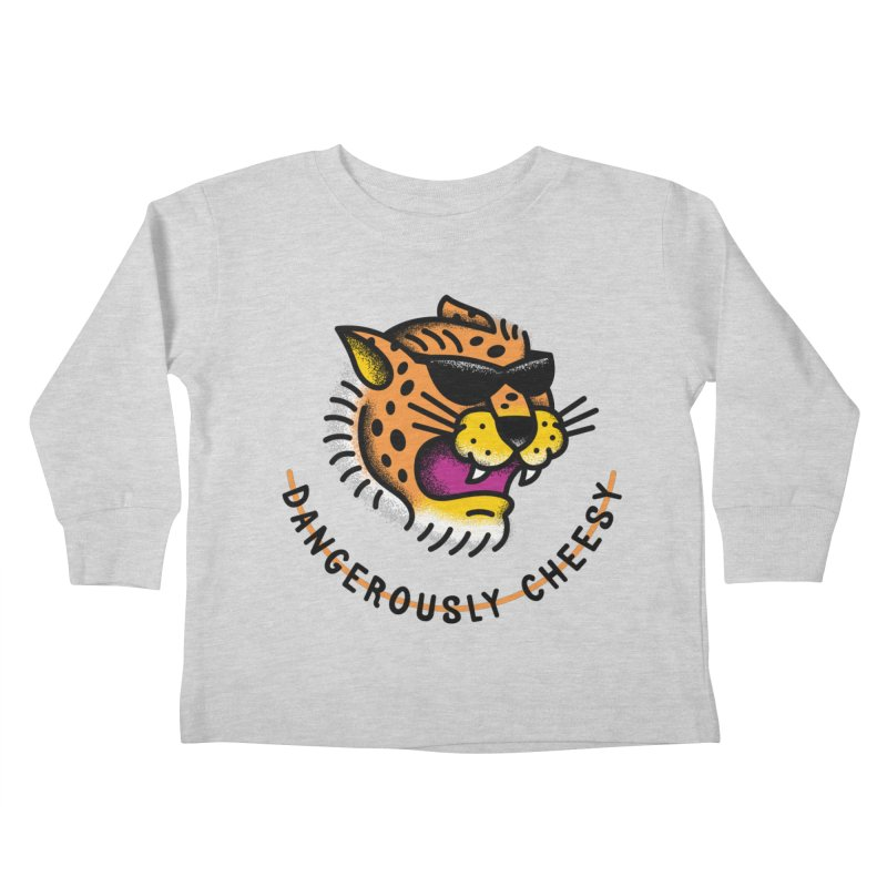 Dangerously Cheesy Kids Toddler Longsleeve T-Shirt by csw