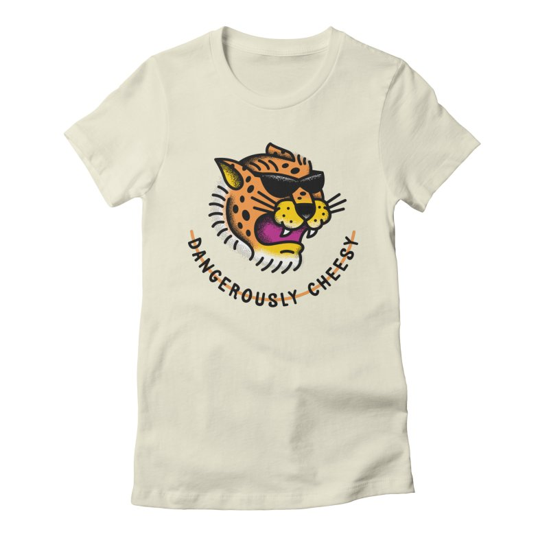 Dangerously Cheesy Women's Fitted T-Shirt by csw