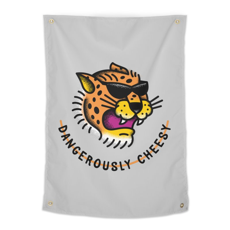 Dangerously Cheesy Home Tapestry by csw