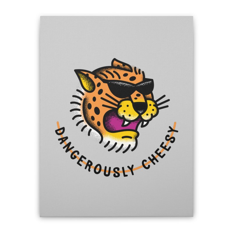 Dangerously Cheesy Home Stretched Canvas by csw