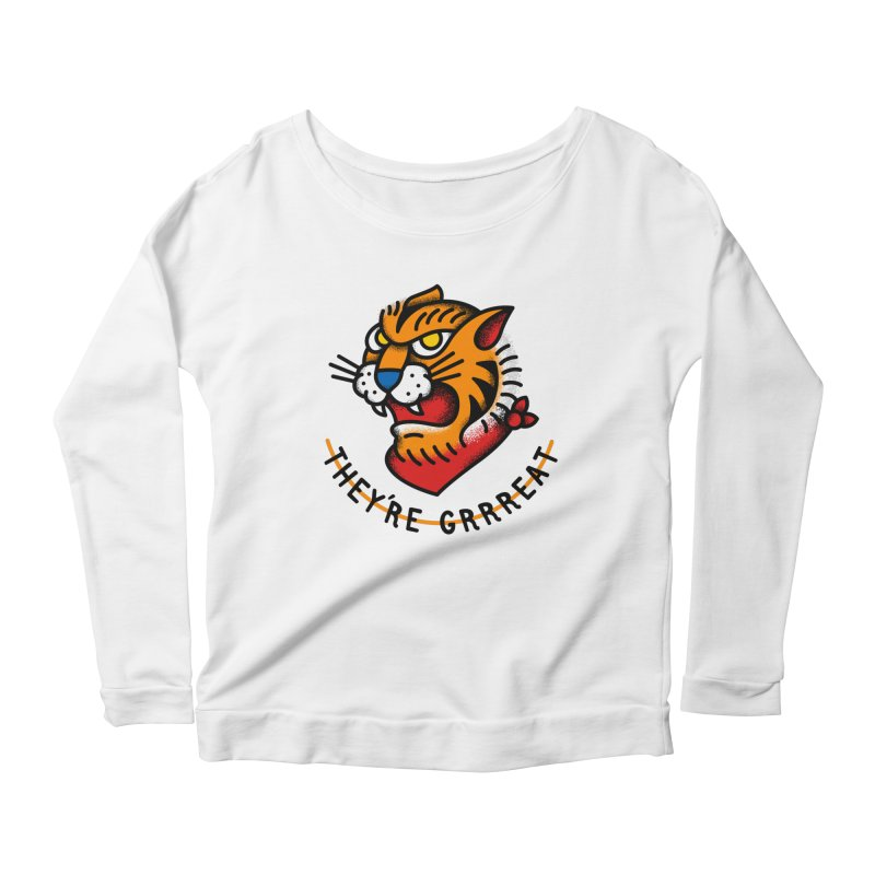 More Than Good Women's Longsleeve Scoopneck  by csw