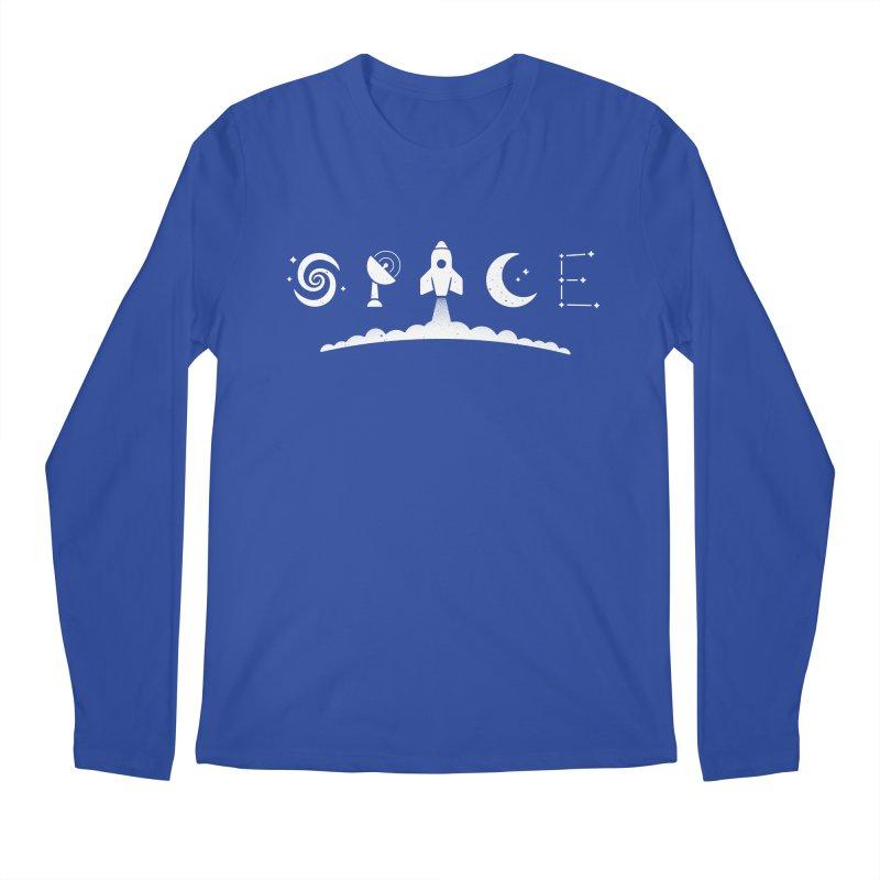 S P A C E Men's Longsleeve T-Shirt by csw