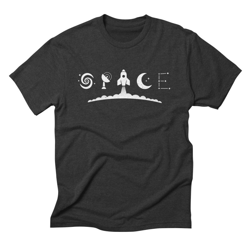S P A C E in Men's Triblend T-shirt Heather Onyx by csw