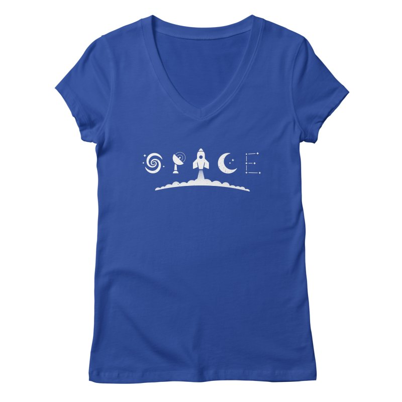 S P A C E Women's V-Neck by csw