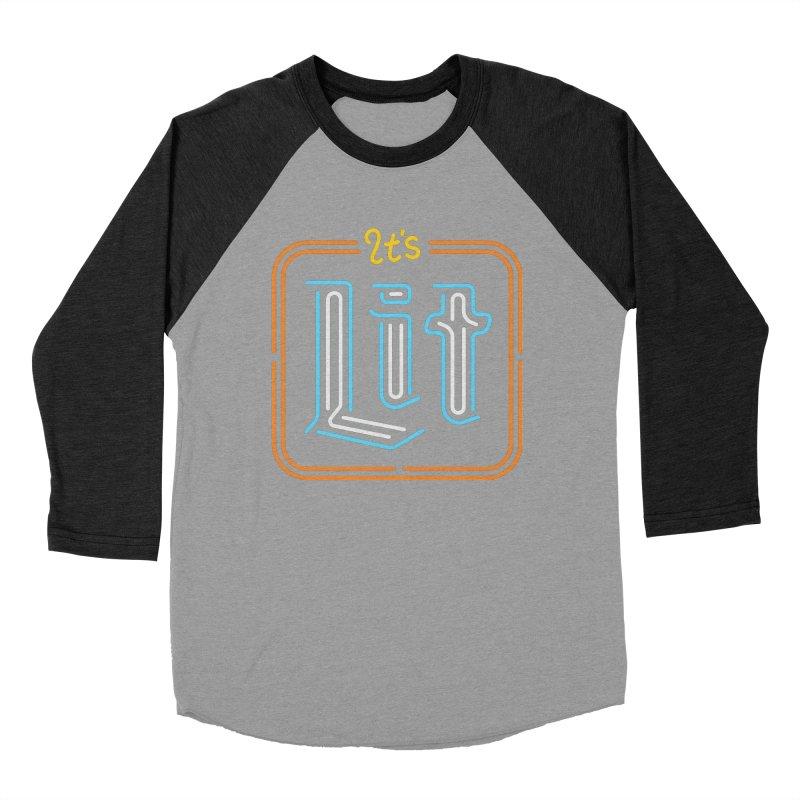 Lit Women's Baseball Triblend T-Shirt by csw
