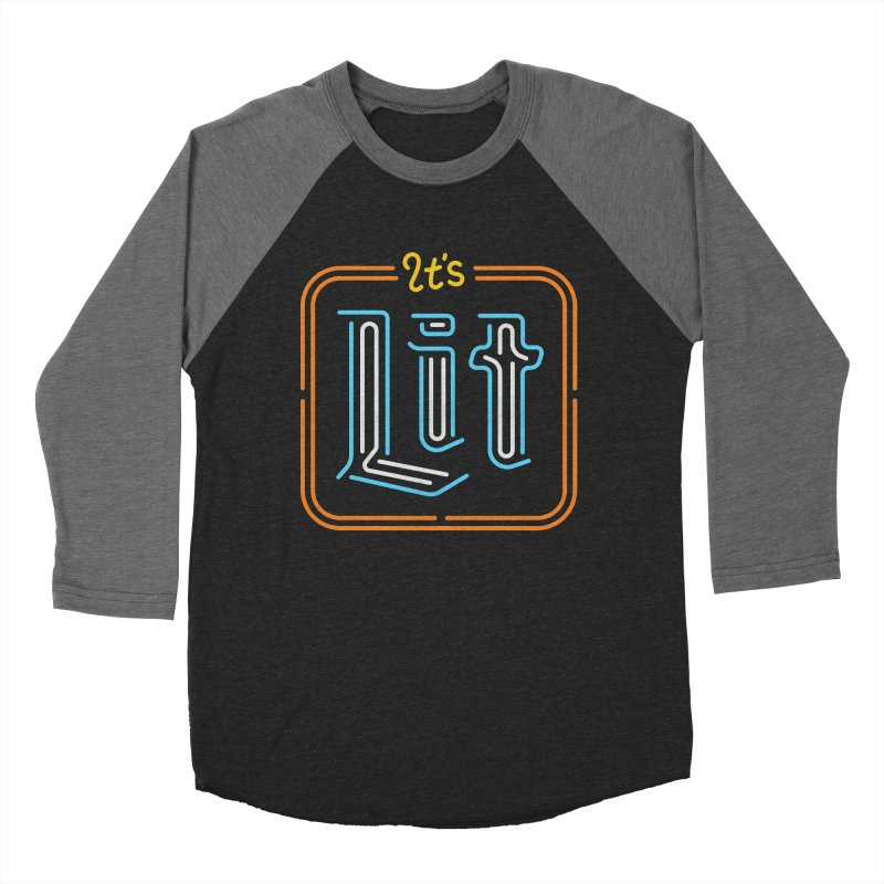 Lit Men's Baseball Triblend T-Shirt by csw