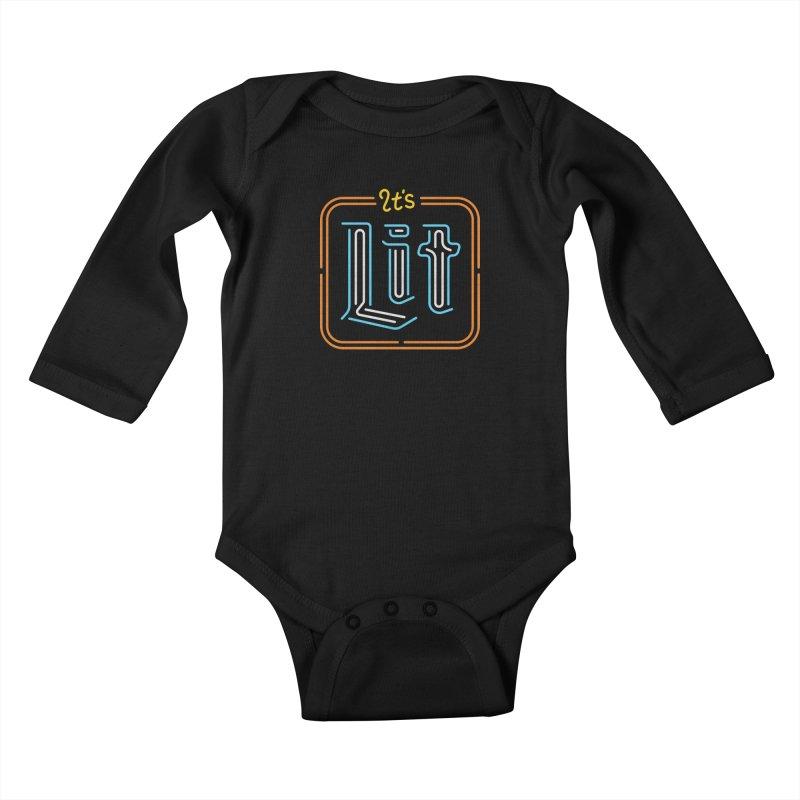 Lit Kids Baby Longsleeve Bodysuit by csw