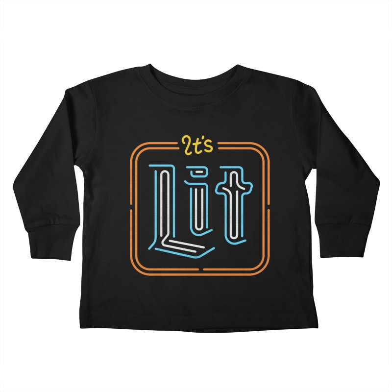 Lit Kids Toddler Longsleeve T-Shirt by csw