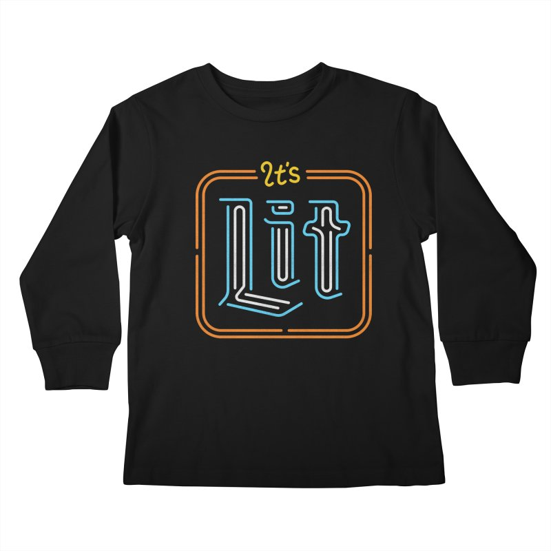 Lit Kids Longsleeve T-Shirt by csw