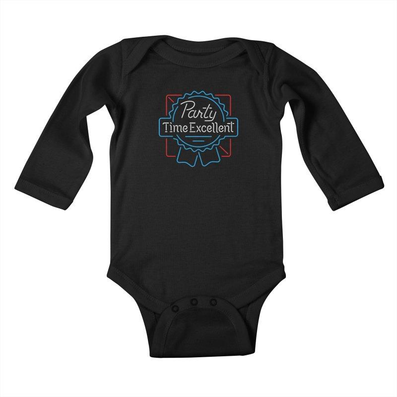 Party On Kids Baby Longsleeve Bodysuit by csw