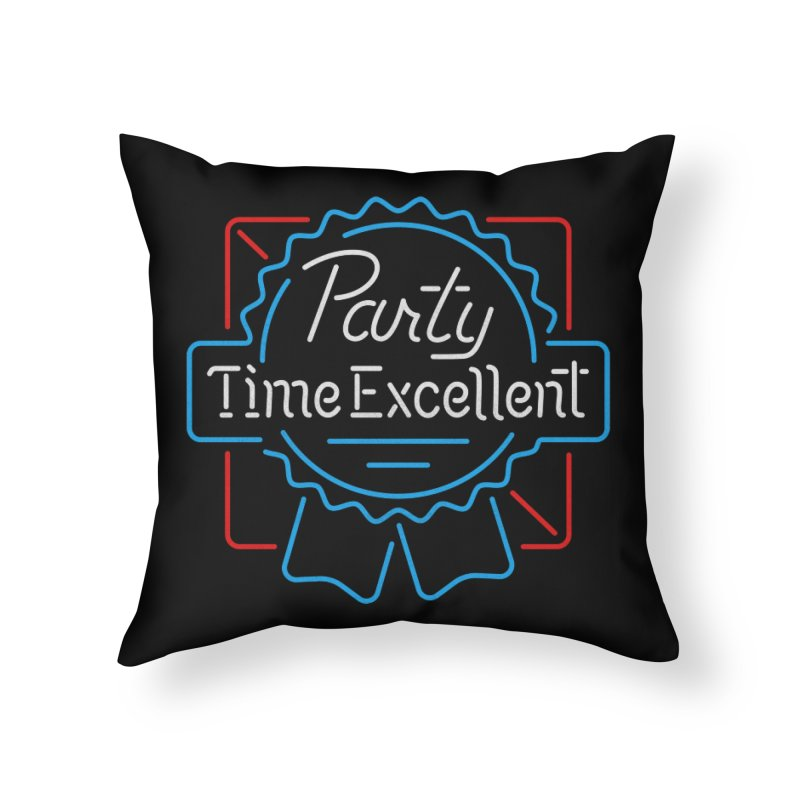 Party On Home Throw Pillow by csw